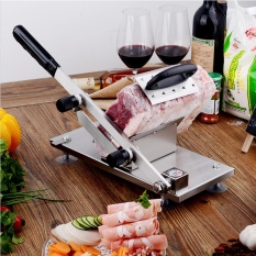 Manual Frozen Meat Slicer Stainless Steel Beef Mutton Slicing Machine Roll Meat Vegetable Food Slicer For Home Kitchen By Smart77ph.