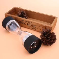 Manual Salt Pepper Mill Grinder Grind 2 In 1 Ceramic Coreportable Black - Intl By Crystalawaking.