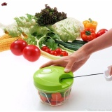 Manual Speedy Chopper Fruit Vegetable Crusher Onion Cutter Shredder Cooking Tool (Green) image on snachetto.com