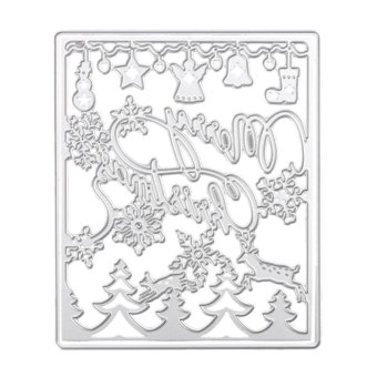 Merry Christmas Cutting Dies Stencil For DIY Scrapbook Album Paper Card - intl