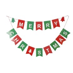 merry christmas letter garland bunting banner christmas flags party decoration intl - Christmas Letter Decorations