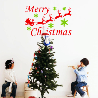 Merry Christmas Removable Art Vinyl Wall Quote Sticker Decal Room Decor (Intl)
