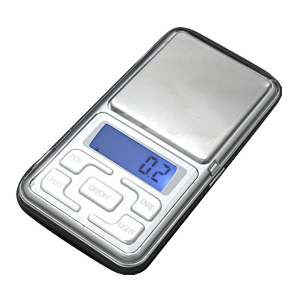 Mini Electronic Digital Jewelry Weighing Scale (Silver) - thumbnail
