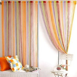 ixed Coorine tring Window Curtain