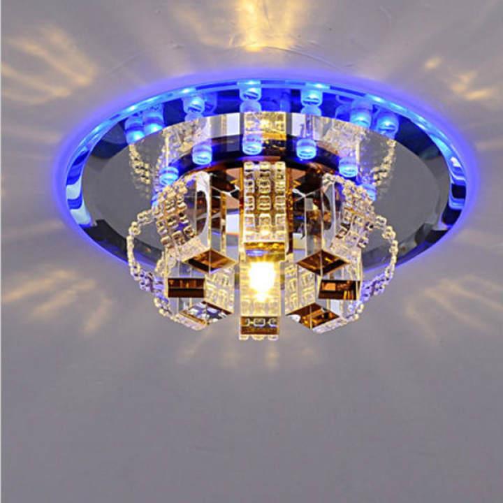 Modern 60 70 90cm Crystal Led Chandeliers Ceiling Lights: Modern Crystal LED Ceiling Light Pendant Lamp Fixture