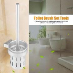 Modern Space Aluminum Wall Mount Toilet Brush Holder Set Bathroom Cleaning Tools - Intl By Highfly.