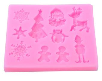 moob Snowflake Cookie Biscuit Silicone Baking Mold Fondant Cake Decorations for Christmas ,Random Color