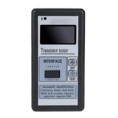 Multi-functional LCD Backlight Transistor Tester Diode Thyristor Capacitance ESR LCR Meter with Grey Plastic