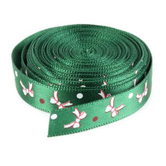 Multi-Pattern Merry Christmas Tree Grosgrain Ribbon Gift Decor 5 Yards 10mm