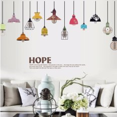 Multicolored Chandelier Wall Sticker Decal Wallpaper PVC Mural Art House  Decoration Home Picture Wall Paper For