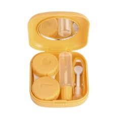 New Cute Mini Contact Lens Easy Carry Case Travel Kit L Ye - Intl By Hatchshop.
