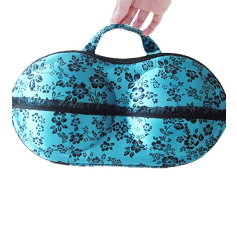 New Floral Protect Bra Underwear Lingerie Case Travel Bag Storage Box (Blue) product preview, discount at cheapest price