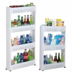 New Moving Rack Kitchen Storage Shelf Wall Cabinets Bedroom Bathroom Organizer White - Intl By Paidbang.