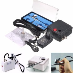 New Precision Dual-Action AIRBRUSH AIR COMPRESSOR KIT SET Craft Cake Hobby Paint - intl Philippines