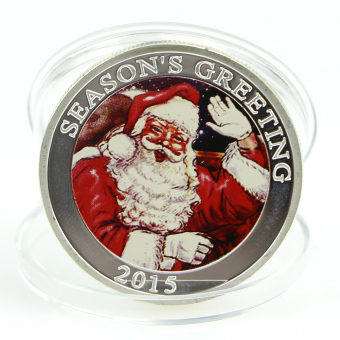 New Silver Plated Merry Christmas Santa Claus Commemorative Coin Collection Gift (Intl)