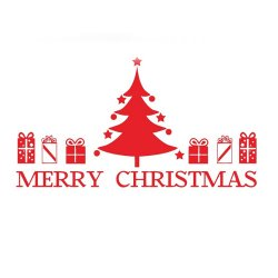 New Year Christmas Snowman Tree Stocking Window Sticker Wall Home Decals Removeable Living Waterproof   - Intl