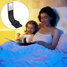 Niceeshop Book Light,portable Usb Rechargeable Ultra Thin Led Reading Light Mini Clip Lamp Bed Night Light For Book Computer And More(black) - Intl By Nicee Shop.