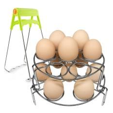 niceEshop Egg Rack Steamer,2 Packs Egg Cooker Rack + 1 Hot Dish Plate Bowl