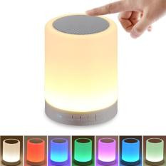 Night Light with Bluetooth Speaker, Gogerstar Portable Wireless Bluetooth Speaker Touch Control Color LED Bedside