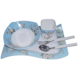 Nippon Ware 1015 Breakfast Set (White/Blue)