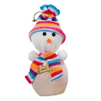 noion Christmas Apple Bag Snowman Bag Gift Xmas Eve Candy Wrapping Bag For Apple Christmas Ornament,Colorful - intl