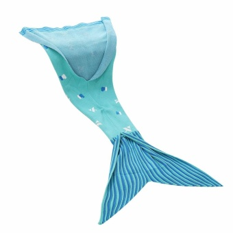 noion KOBWA Mermaid Tail Blanket, Super Soft Children's Fleece Mermaid Tail Blanket Bag Christmas Gift Ideas Mermaid Party Favors Children Mermaid Blanket Snuggles Mermaid Tail Blanket - intl