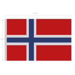 Norway National Flag 5ft x 3 ft
