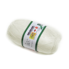 OEM 50g Smooth Bamboo Charcoal Cotton Knitting Wire (Cream White) (Intl)