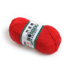 OEM 50g Smooth Bamboo Charcoal Cotton Knitting Wire (Red) (Intl)