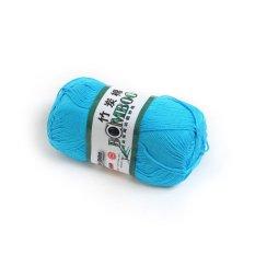 OEM 50g Smooth Bamboo Charcoal Cotton Stocking Yarn (Peocock Blue) - Intl