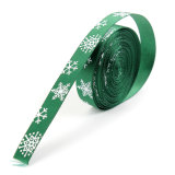 OEM Multi-Pattern 5 Yards 3/8''10mm Merry Christmas Tree Grosgrain Ribbon Gift Decor (Green) - thumbnail 1