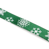 OEM Multi-Pattern 5 Yards 3/8''10mm Merry Christmas Tree Grosgrain Ribbon Gift Decor (Green) - thumbnail 4