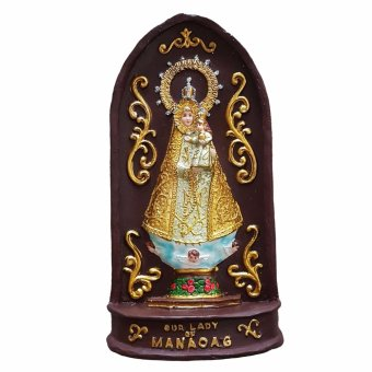 Our Lady of Manaoag 3D Plaque with Stand Figurine for the Holiday (Made of Fiberglass Resin) by Everything About Santa  (Christmas decoration and gift suggestion)  Religious Item