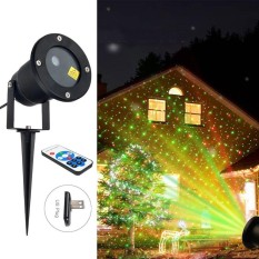 Outdoor Moving Projector Led Laser Lamp Waterproof Christmas Stage Garden Light Us Plug - Intl By Five Star Store.