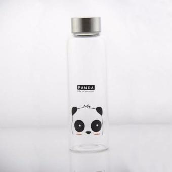 Tumbler Glass Water Tumbler Panda Animal Water Juice Glass Tumbler with Sleeve 550ML