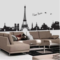 Paris City Eiffel Tower Black Vinyl Wall Sticker Home Art Decal   Intl