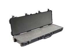 Pelican 1750BLK Long Case with Foam (Black) - for tactical defense and hunting tools. Toughest case on the planet. Military grade foam and seal ring to lock out moisture and rust for long term storage. Air and Sea travels