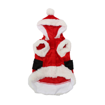 Pet Puppy Dog Cat Christmas Clothes Santa Claus Costume Coat Hoodie Lucky Outfit S