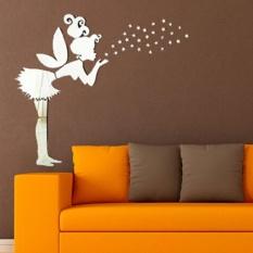 Plastic Angel Magic Fairy U0026 Stars 3D Mirror Wall Sticker Kids Bedroom  Decoration Gift   Intl
