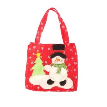 Pontus Personalized Christmas Festival Party Toys Cloth Gift Craft Bag 16*16cm Christmas Santa Creative - intl