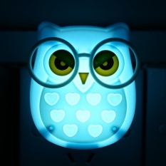 Portable Cute Owl Shape LED Night light Auto-Control Sensor Lamp Kids Bedroom Wall Light