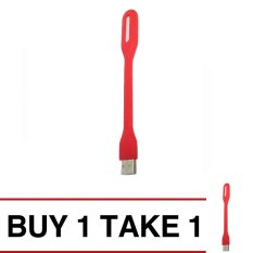 Portable Usb Led Lamp (red) Buy 1 Take 1 By Gameplace.