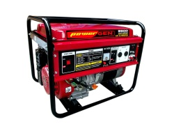 Powergen 5500 Portable Generator (Red/Black)