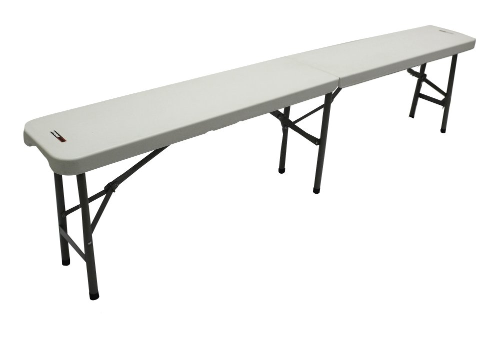 Fine Primetime 6 Ft Fold In Half Banquet Bench Pure White Ibusinesslaw Wood Chair Design Ideas Ibusinesslaworg
