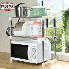 Prostar 2 Tier Stainless Steel Microwave Stand / Shelving / Racking By The Store.