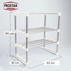 Prostar 3 Tier Stainless Steel Microwave Stand / Shelving / Racking By The Store.