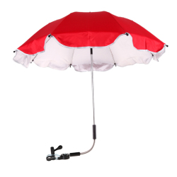 Pushchair Baby Pram Parasol Sun Protection UV Rays Umbrella Shade (Red)