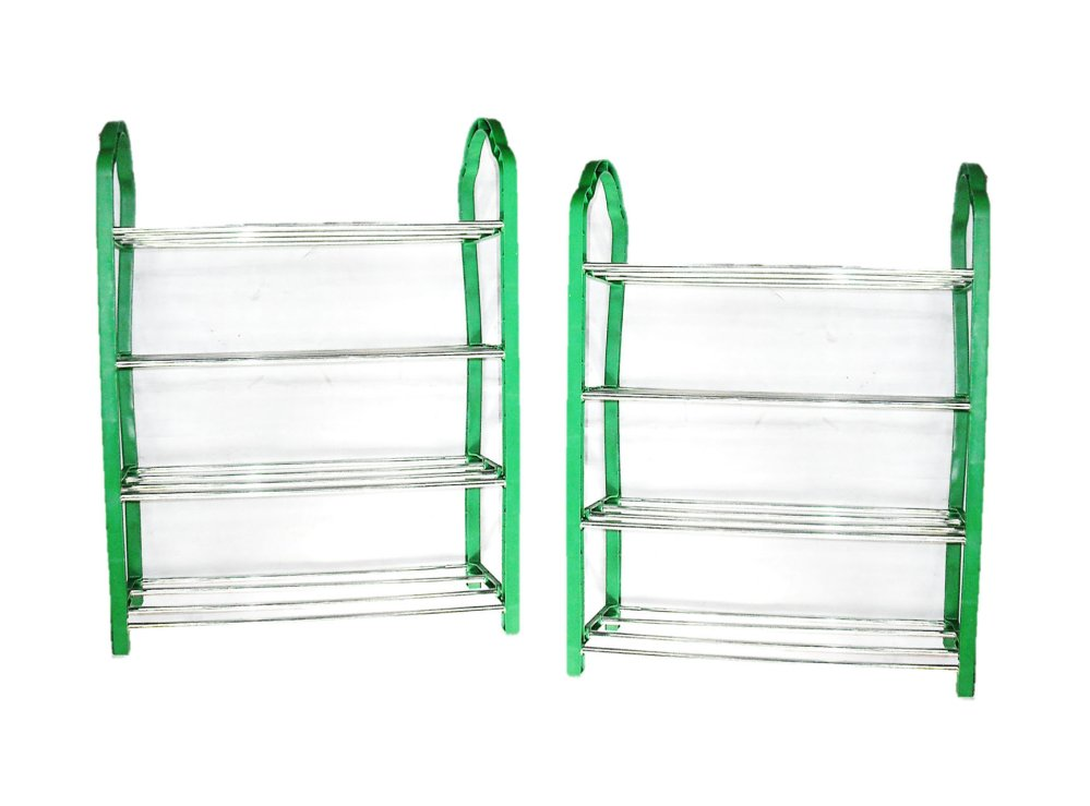 R48-4 Portable 4-layer Shoe Rack Set of 2 (Green)