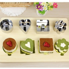 Rainbow Site Pastry Round Square Heart Forms For Cheese Pan Mousses Cake Mould Sectional Shape Baking
