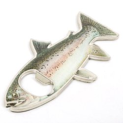 Rainbow  Stainless Steel Trout Fish Bottle Opener Fridge Magnetic Magnet